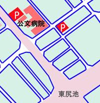 公文病院の駐車場地図